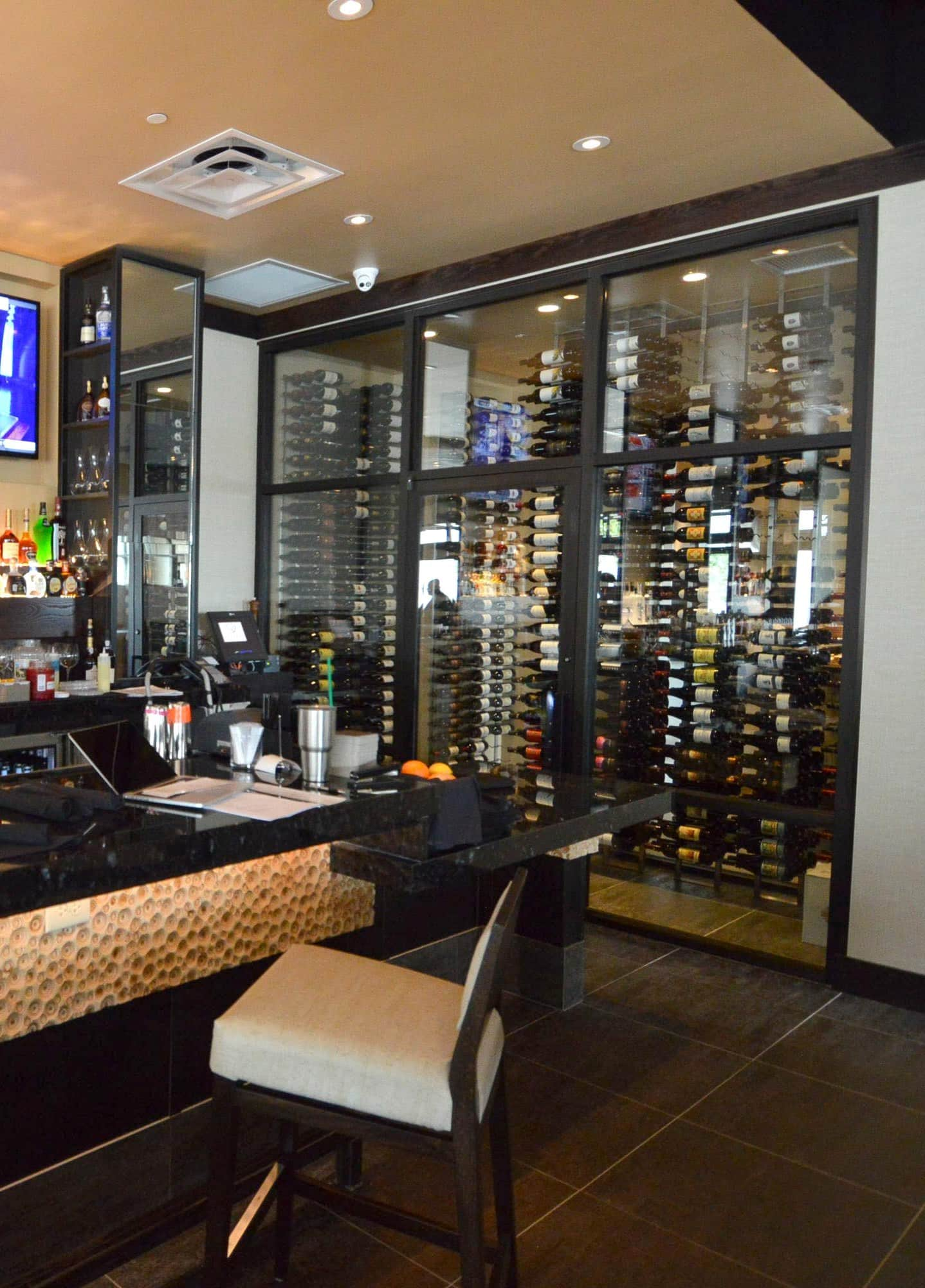 Glass Enclosed Commercial Wine Cellar  Richardson TX