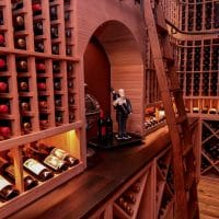 Inside the Wine Cellar\'s Storage Area that Displays the Wine of this Dallas-Forworth Home