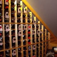 11 Waterfall Wine Rack Left Wall