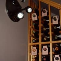 12 LED Wall Light Placed at the High End of Waterfall Wine Rack