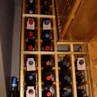 6 Back Wall Top Right Dallas Home Wine Cellar
