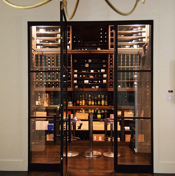 36. Traditional Custom Wine Room in Dallas Home