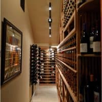 A small storage space was transformed into a beautiful wine cellar for the client's home in San Antonio.