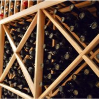 Diamond Bins Provide Excellent Storage in San Antonio Home Wine Cellar
