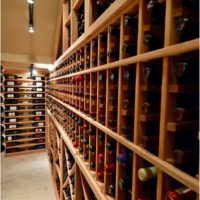 To meet the client's wine storage needs this custom traditional cellar has a storage capacity of 1,100 bottles.