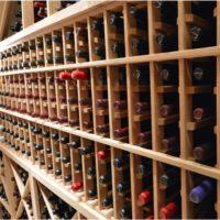 Redwood Wine Racking in San Antonio Home Cellar