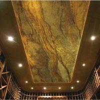 Real Stone Veneer Wine Cellar Ceiling