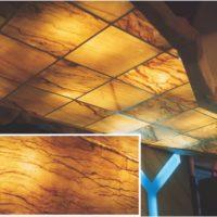 Real Stone Veneer Backlit Ceiling