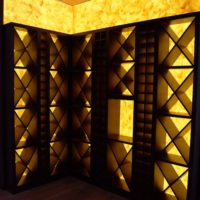 Backlit Faux Onyx Walls for Custom Wine Cellars