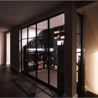 Bronze Doors for Small Custom Wine Cellar