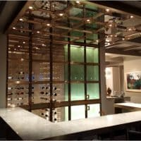 Contemporary Cellar Design with Bronze Doors