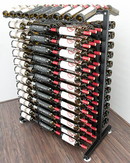 free standing metal wine racks by vintageview. Black Bedroom Furniture Sets. Home Design Ideas