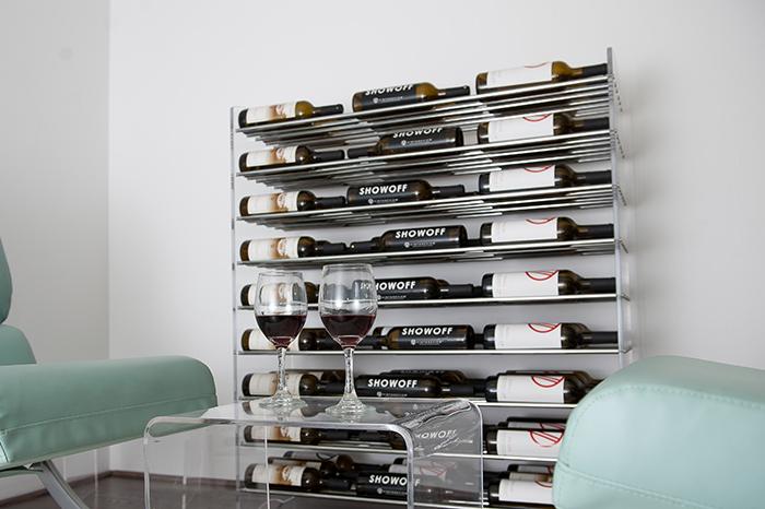 Steel Rods And Acrylic Sides Evolution Series Wine Racks