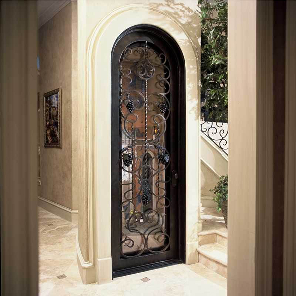 austin-grapevine-grapes-wrought-iron-wine-cellar-door & Hand Forged Wrought Iron Custom Wine Cellar Doors u0026 Gates