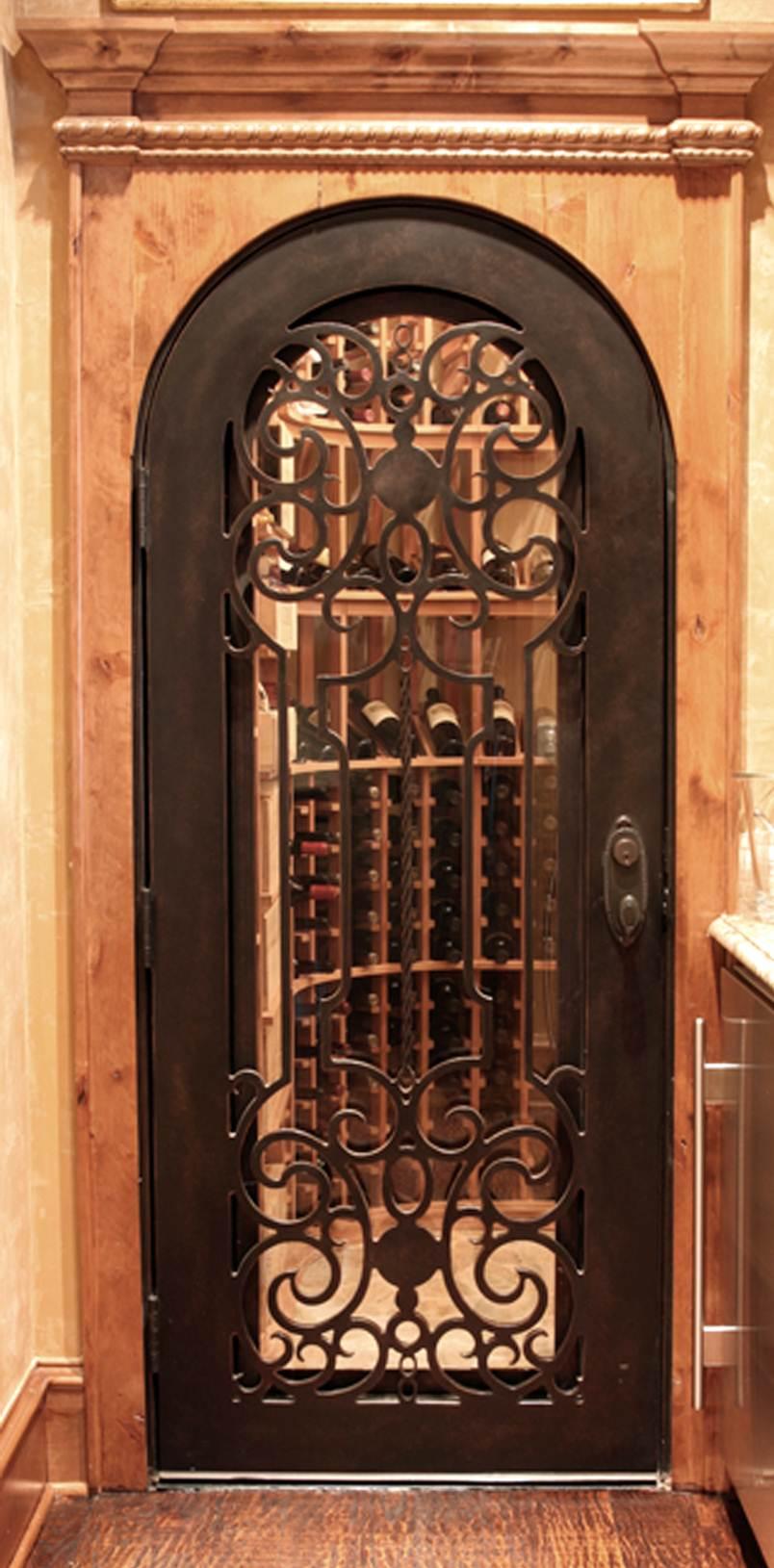 ... Houston Venetian View Wrought Iron Wine Cellar Door ...
