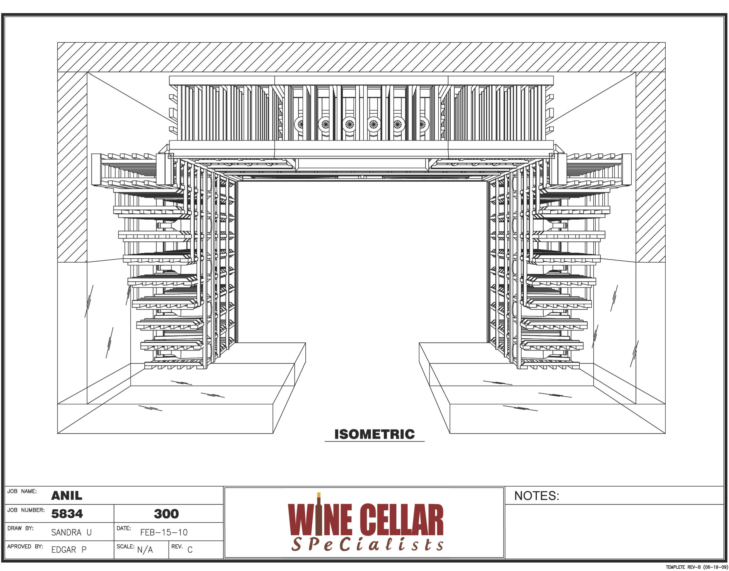 Newly Installed Custom Wine Cellar Chicago Illinois