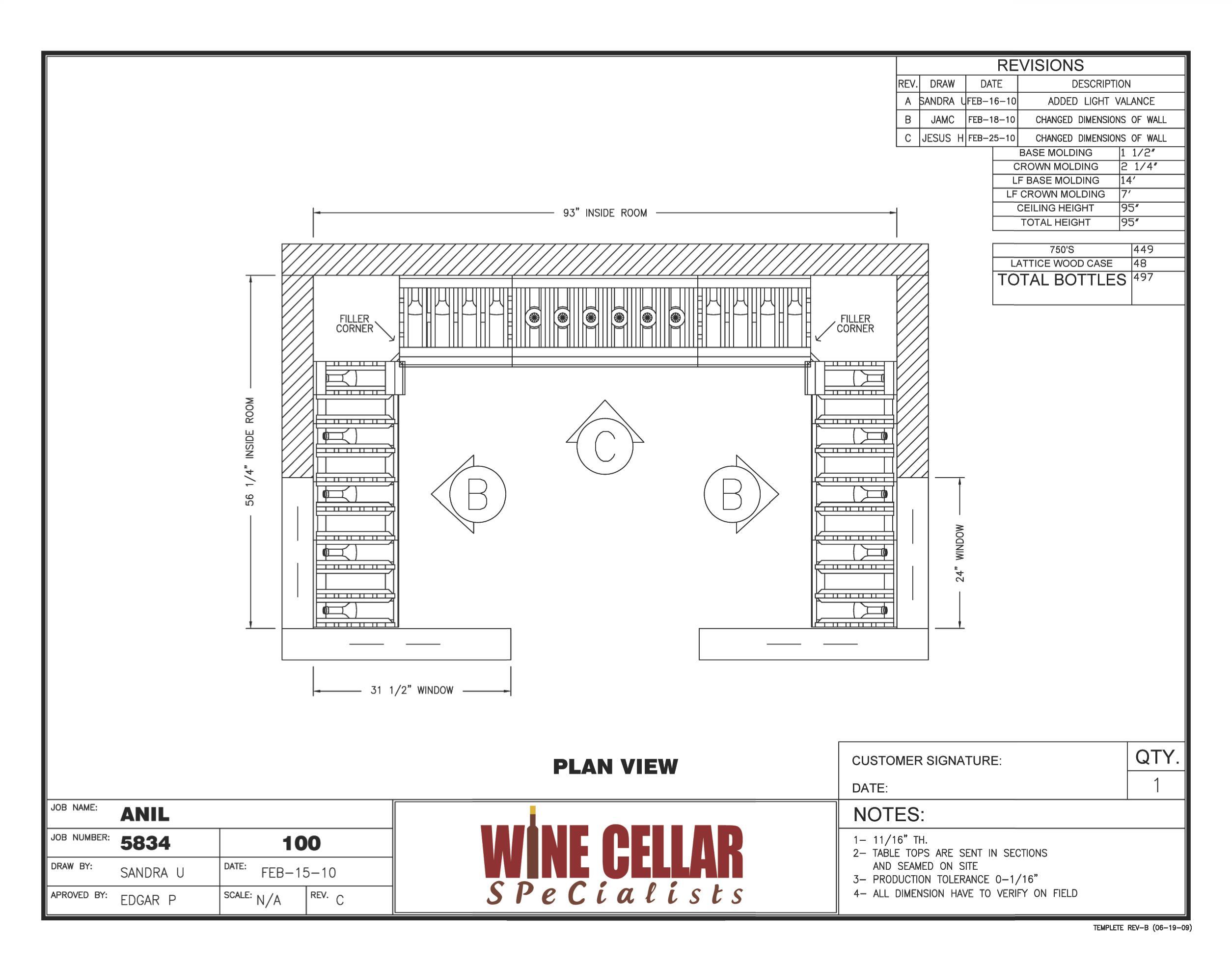 Newly Installed Custom Wine Cellar Chicago Illinois