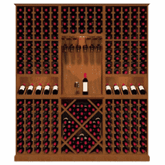 X Shaped Wine Storage Bin Modular Rack