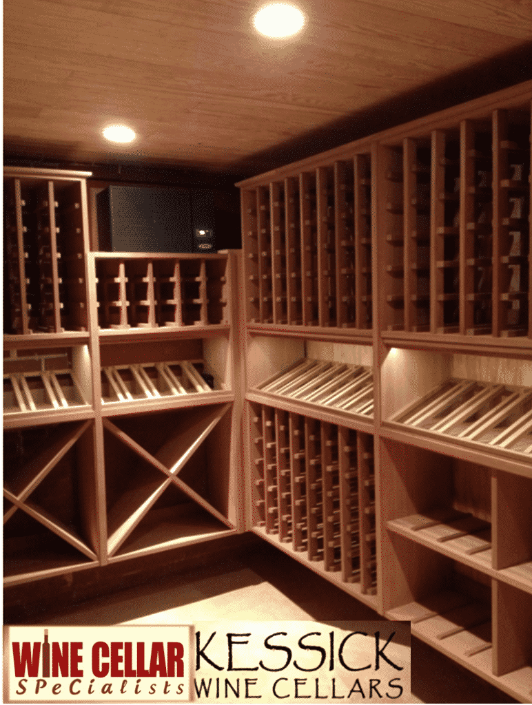 Contemporary Wine Cellar Designs in Wood u2013 Kessick Wall Mounted Wine Racks & Contemporary Wooden Wine Cellar Racks from Kessick