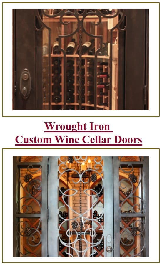 Custom Wine Cellar Doors For Refrigerated Wine Cellars