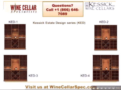 Kessicka Estate Design Modular Wine Racks 1 to 4
