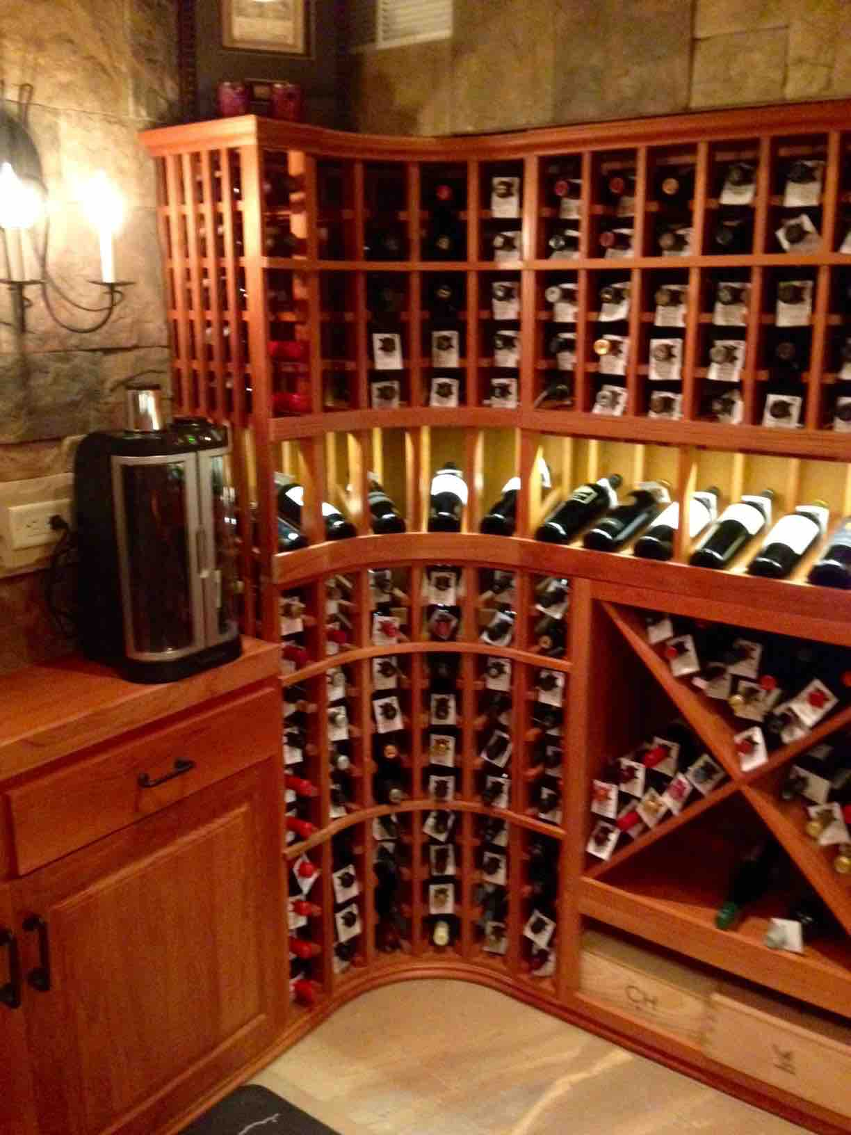 Chicago Residents Build Awesome Basement Wine Cellar