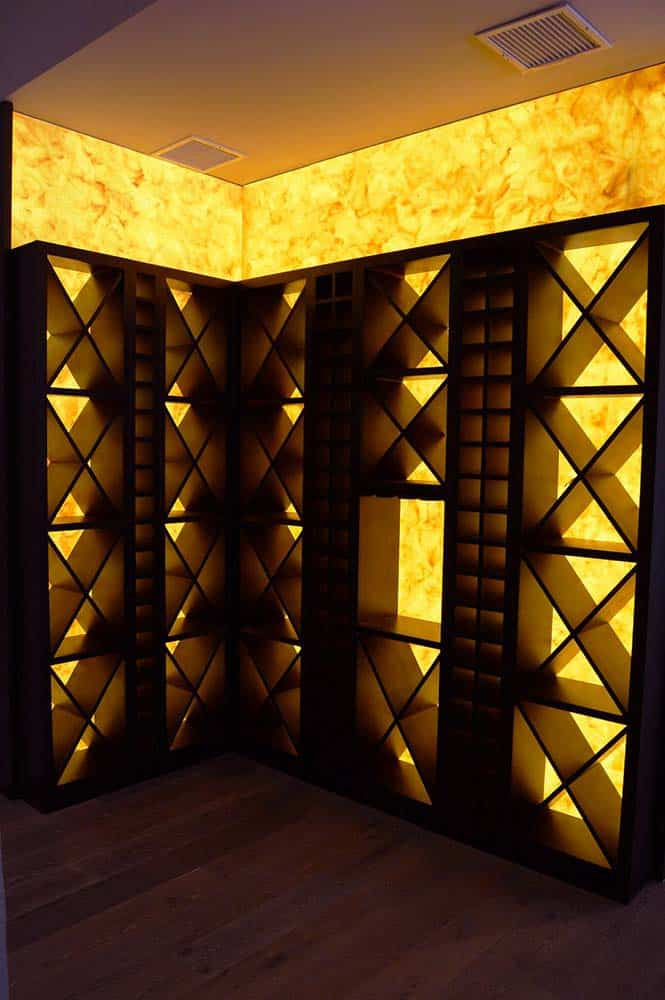 Awesome Wine Cellar Backlighting Fixtures Interior Design Ideas Tzicisoteloinfo